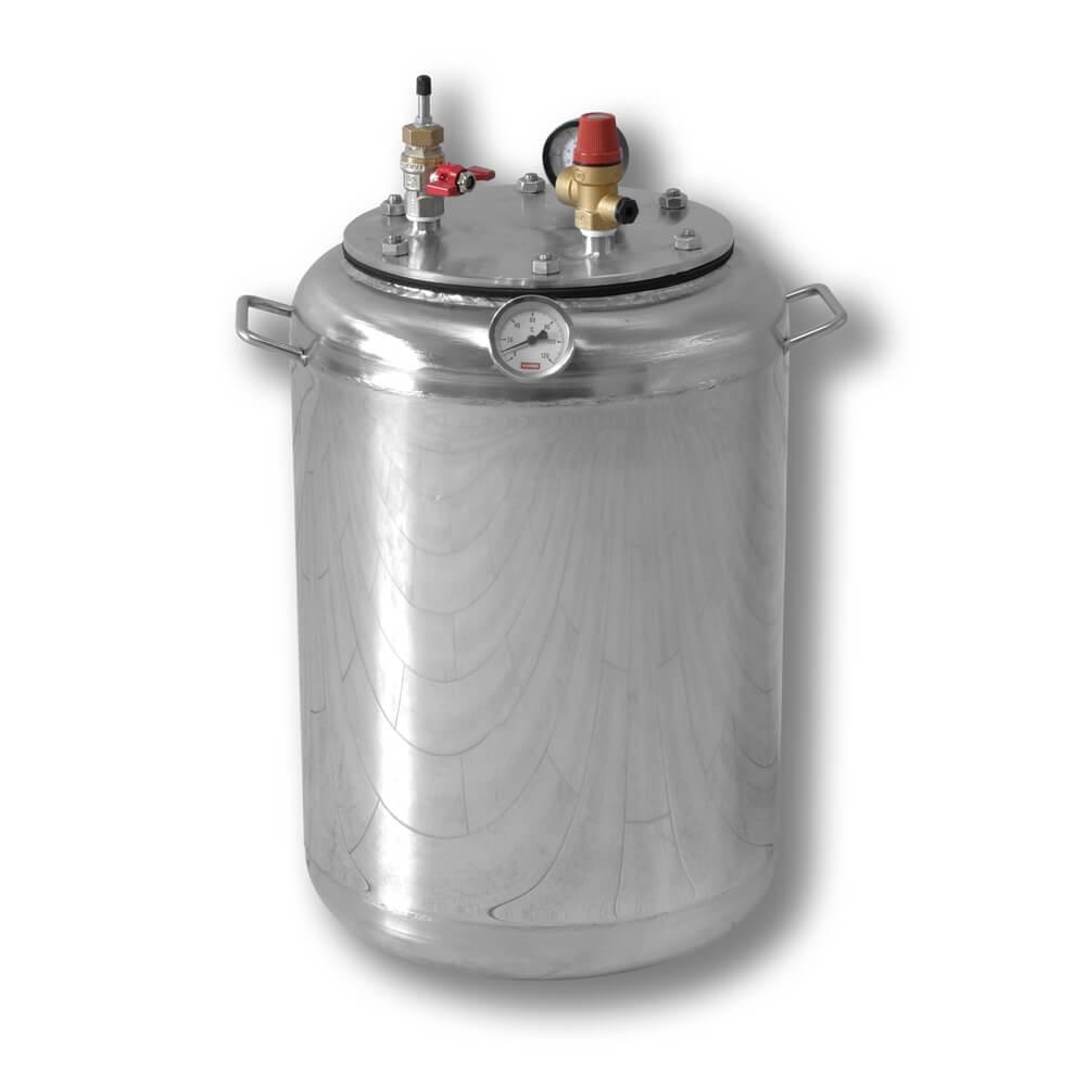 Автоклав бытовой газовый из нержавеющей стали для консервирования продуктов А24