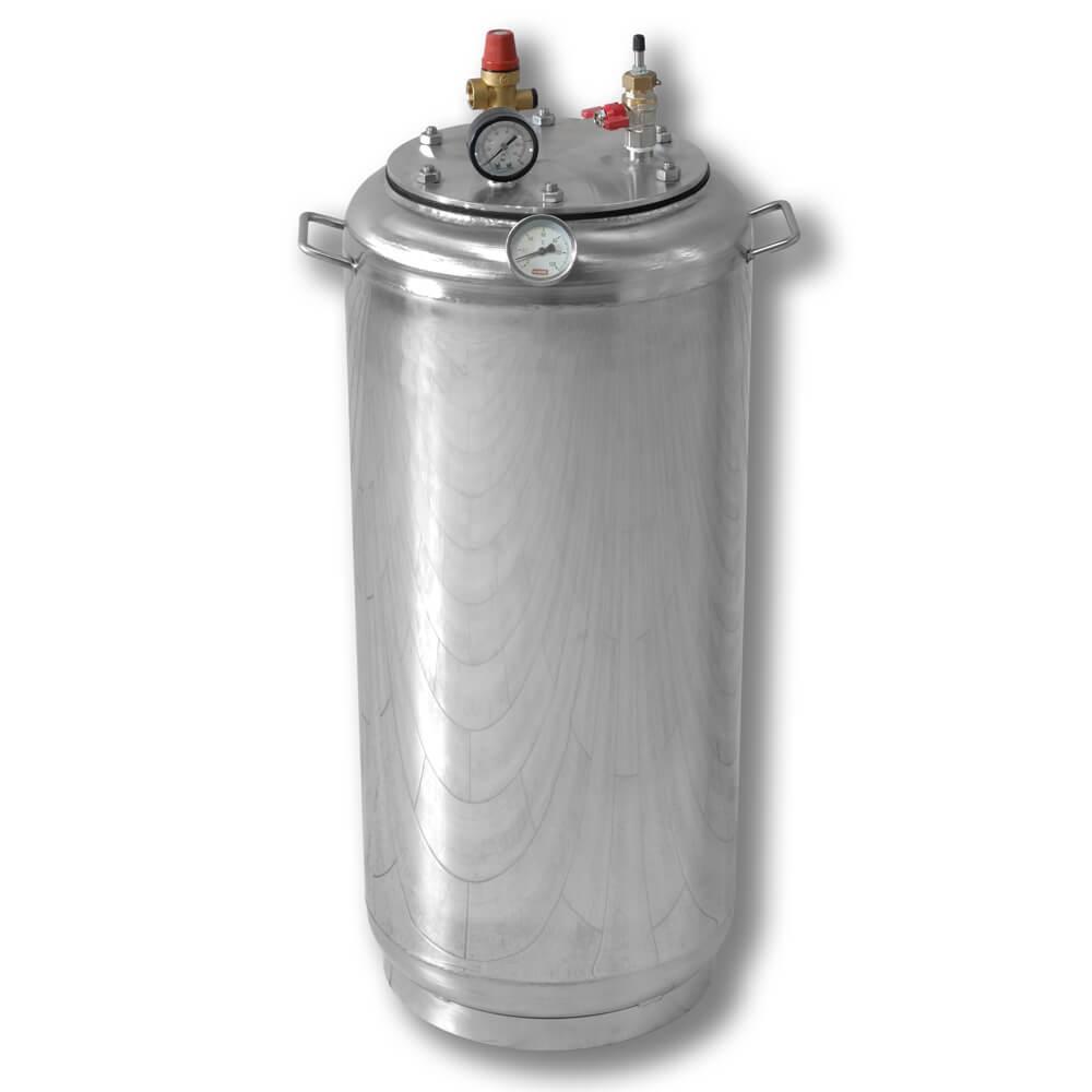 Автоклав бытовой газовый из нержавеющей стали для консервирования продуктов А40