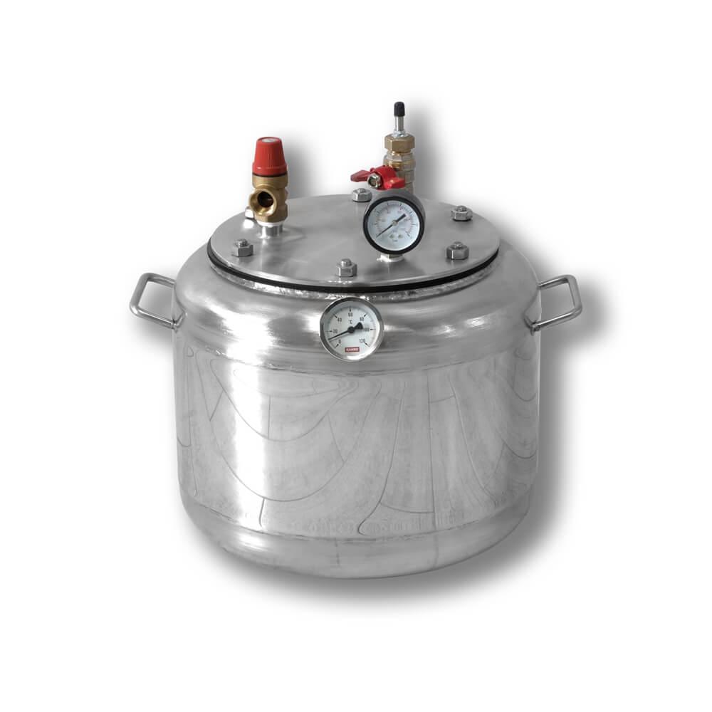 Автоклав бытовой газовый из нержавеющей стали для консервирования продуктов А8