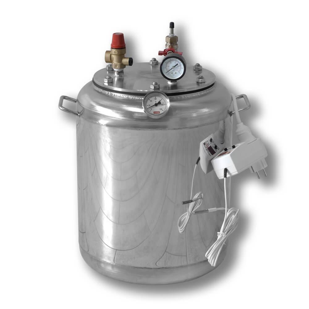 Автоклав электрический бытовой из нержавейки для консервирования продуктов А16 ELECTRO