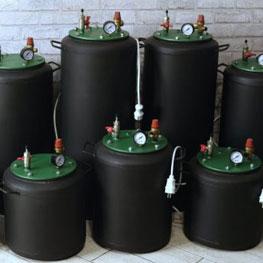 Бытовой газовый автоклав для консервирования из черного металла ЧЕ-32