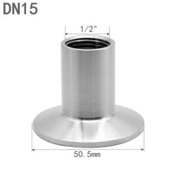 """1/2"""" BSP - 1.5"""" tri-clamp Переходник кламп внутренняя резьба"""
