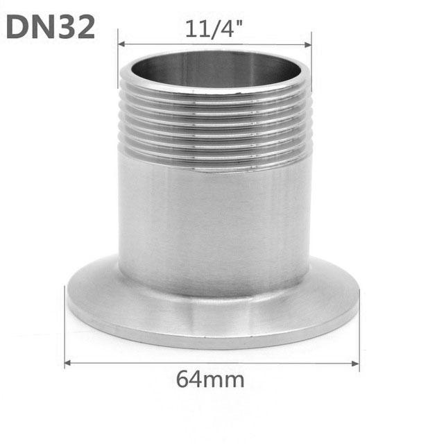 1 1/4″ BSPT — 2″ tri-clamp Переходник кламп наружная резьба